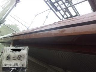 横樋・破風塗装施工後