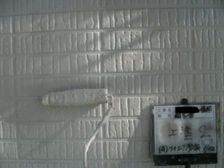 1階外壁塗装上塗