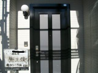 玄関ドア塗装施工後