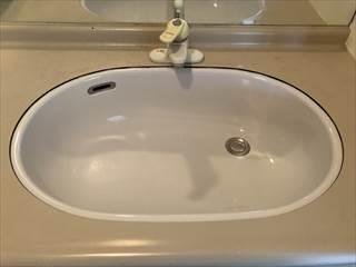 洗面器施工後