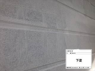 外壁水性エポキシシーラー下塗り