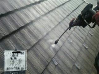 モニエル瓦屋根洗浄