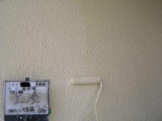 リシン外壁上塗り塗装