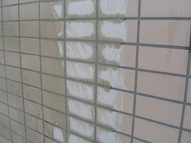 外壁塗装タイル面下地処理