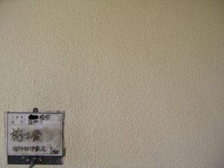 外壁塗装リシン壁施工後