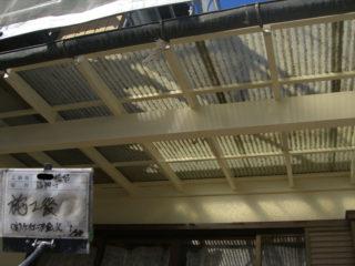 外壁塗装テラス施工後