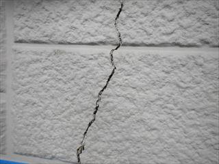 外壁サイディングひび割れ