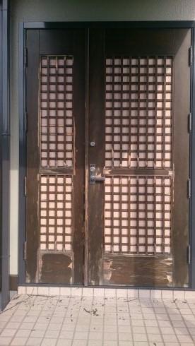 木製親子ドア施工前