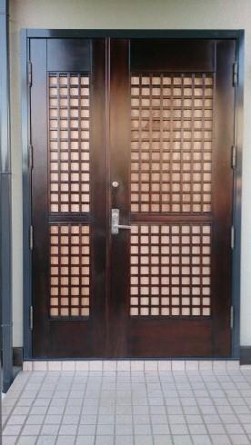 木製親子ドア施工後