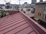宇都宮元床屋さんの瓦棒トタン屋根熱交換塗装