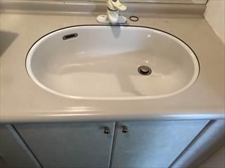洗面器施工前