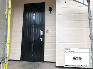 玄関ドア塗装
